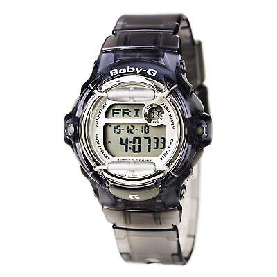 Casio BG169R-8 Women's Baby-G Grey Resin Band Digital World Time Watch