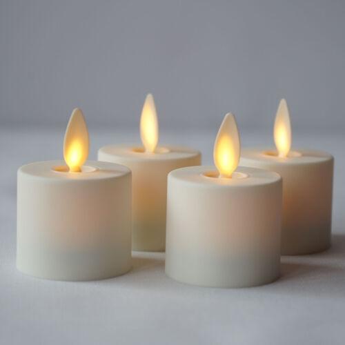 Luminara Flameless Moving Wick Tealights Candles Remote LED