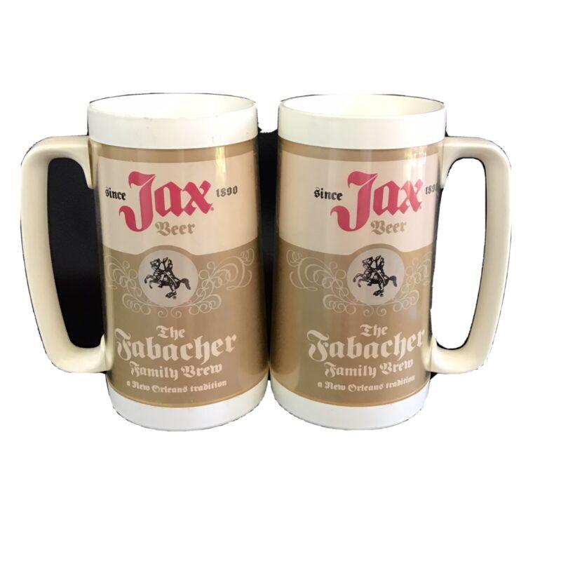 Jax Beer Vtg 70s Thermo Serve Cup Mug New Orleans set of 2