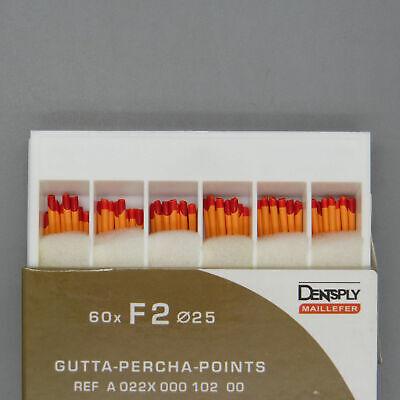 Dentsply Tulsa Protaper Universal F2 Gutta Percha Points Box Of 60 Dental Endo