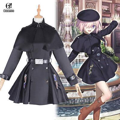 Fate Grand Order Shielder Mash Trench Coat Cloak Cape Jacket Cosplay Costume - Black Trench Coat Costume