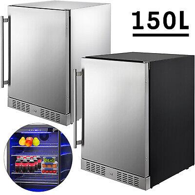 Built-in Beverage Cooler Refrigerator 5.3 Cu.Ft. Freezer SS Reversible Door 150L