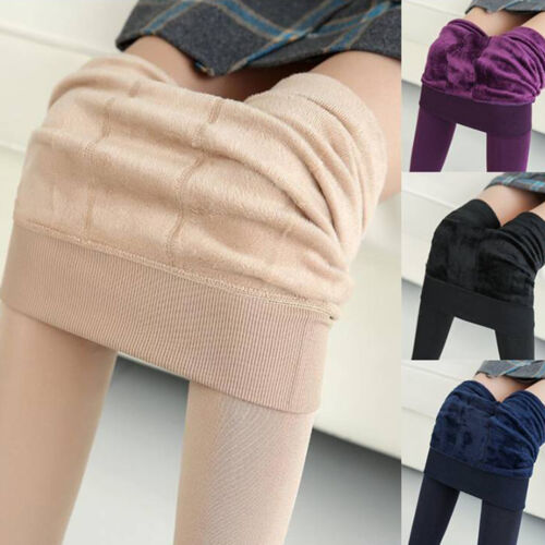Women's Thick Warm Fleece lined Fur Winter Tight Pencil Legg