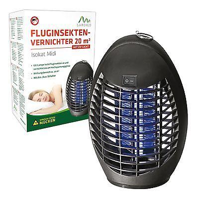 Mückenlampe Mückenvernichter Mückenschutz Insektenlampe UV Licht 20 qm Fliegen