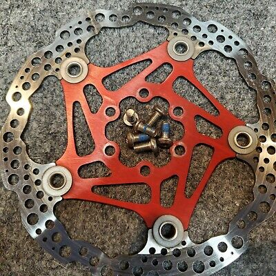 ALLIGATOR Diamond 2-Piece Heat Dispersion 160mm Bike Brake Rotor Gold//Black//Red