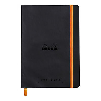 Rhodia Goalbook Journal - Black - Dot Grid - 5.75 X 8.25 Inches - New R117742