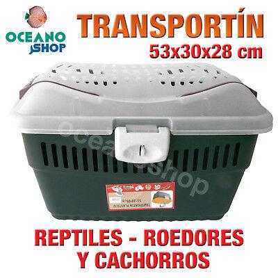 TRANSPORTIN REPTIL CONEJO HAMSTER TORTUGA ROEDOR CACHORROS 53x30x28 cm L556 2567
