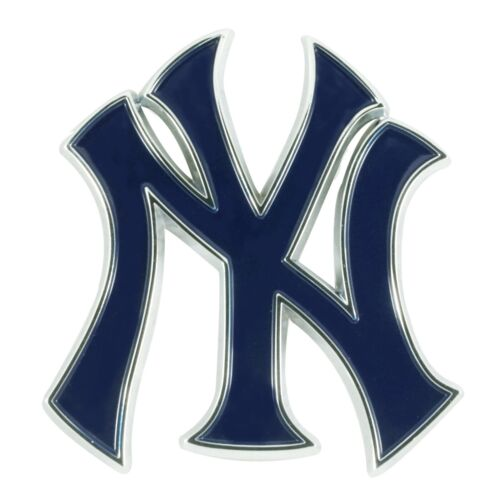 New York Yankees Premium Solid Metal Color Raised Auto Emble