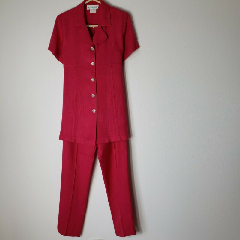 Motherhood Maternity 2-Piece Pant Suit career/occassion Pink  Size S cotyon