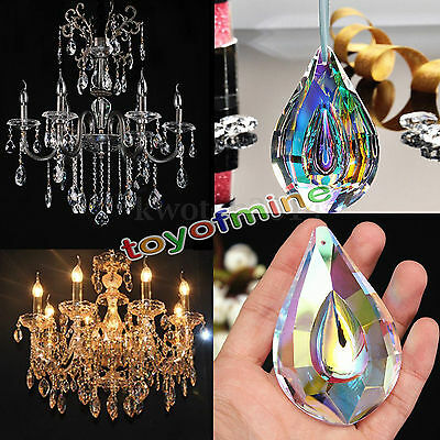 New Colorful Chandelier Glass Crystals Lamp Prisms Parts Hanging Drops Pendants