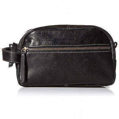 db9fe1368fc Timberland Men s Leather Travel Kit Toiletry Bag Dopp Kit Overnight Shave  Kit