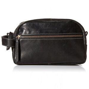 Timberland Men's Leather Travel Kit Toiletry Bag Dopp Kit Overnight Shave Kit