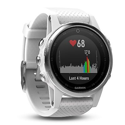 Garmin Fenix 5S White 42 Mm Premium Gps Glonass Fitness Sport Watch 010 01685 00