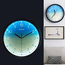 ø12'' Luminous Wall Clock Silent Quartz Night Glowing Arabic Numerals Clock USA