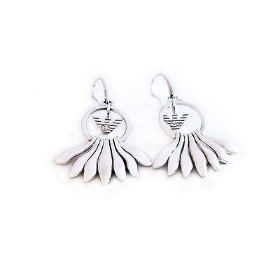 New Emporio Armani Ladies Silver Sunburst Eagle Earrings EG1492 RARE!!! (Emporio Armani Silver Eagle)