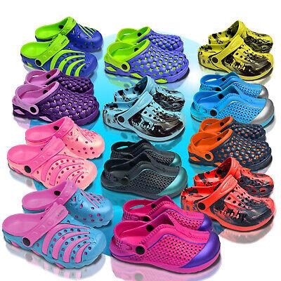 Kinder Clogs Schuhe Hausschuhe Badeschuhe Gartenschuhe Sandalen GR 23-35 35