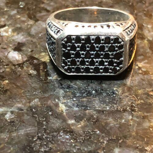 David Yurman Sterling Silver Streamline Ring With Black Diamond 9 - $297.00
