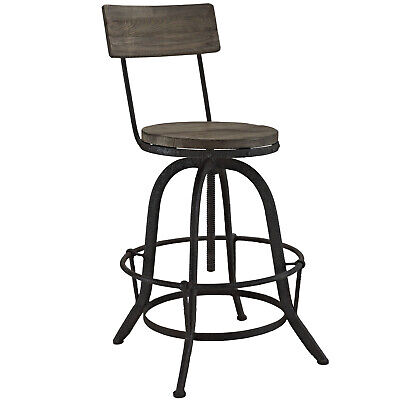 Industrial Country Rustic Style Antique Vintage Pub Bar Stool Chair, Metal -
