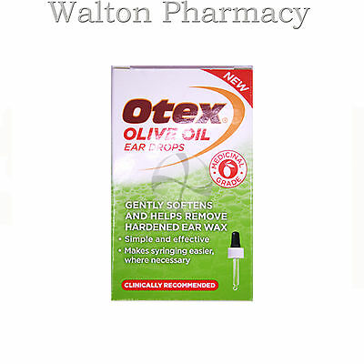 Otex medical grade OLIVE OIL Ear Drops Removal of Ear Wax 10ml natural & dropper