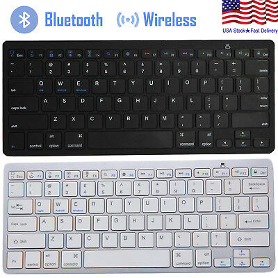 Universal Bluetooth 3.0 Slim Keyboard for Android Windows iOS Tablet PC Laptop