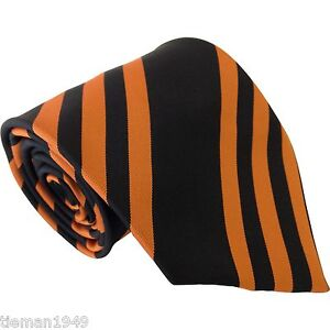 Club Tie Wolverhampton Wanderers Wolves Hull City FC Football Orange + Black