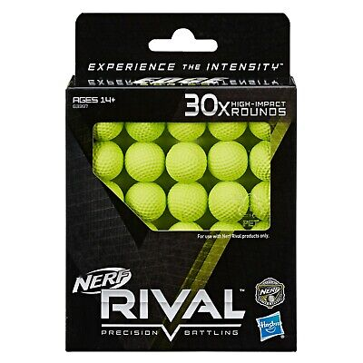 Nerf Rival 30X High Impact Rounds Refill Pack Ammunition Ammo 30 Round Balls