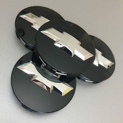 4 Black Chrome Wheel Rim Center Cap For Chevy Silverado Suburban Tahoe 83MM 3.25