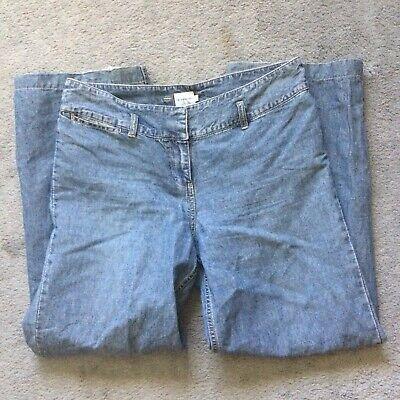 Calvin Klein Jeans wide leg hemmed crop summer jeans, Sz 10 Calvin Klein Wide Leg Jeans