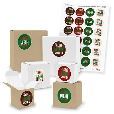 e Geschenkboxen mit Sticker Frohe Weihnachten (Motiv 48 V03) (Klein Weihnachten Geschenk-boxen)