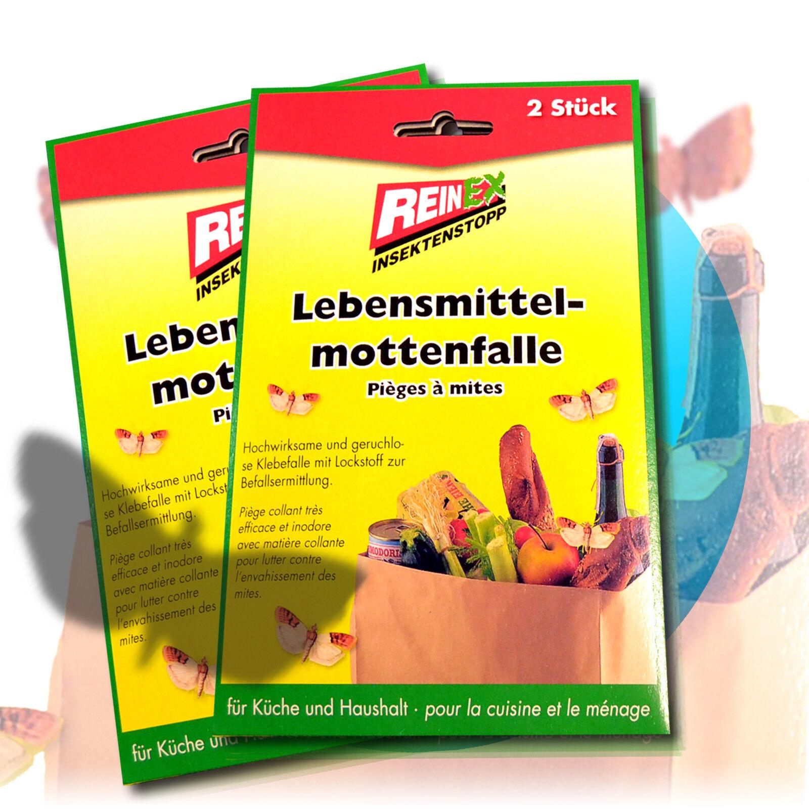 2/6/10 x Reinex Lebensmittelmottenfalle Lebensmittel Motten Falle Pheromonfalle