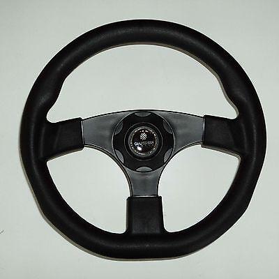New Oem Gussi Boat Steering Wheel M500 All Black Plastic   Soft Touch Rim