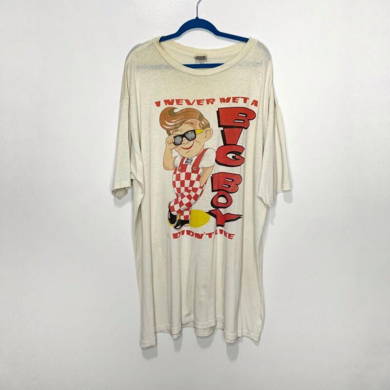 Vintage Big Boy Restaurant Nightgown Sleep Shirt Single Stitch Nutmeg Mills Flaw
