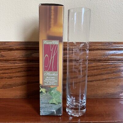 Crystal Clear Heather Glass Bud Vase 8