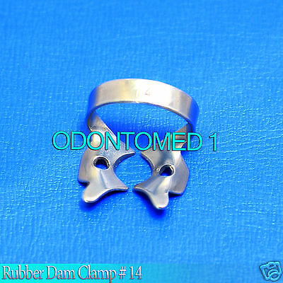 6 Endodontic Rubber Dam Clamp 14 Surgical Dental Instruments