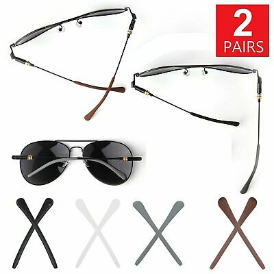 2 Pairs Silicone Temple End Tip Repairs for Eyeglasses Sunglasses Replacement Health & Beauty