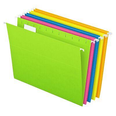 Pendaflex Glow 5-tab Hanging File Folders Letter Size Multicolor 1075843