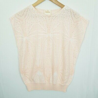 80s Sweatshirts, Sweaters, Vests | Women BRETTLES Vintage Size XL Nude Starburst Knit Sleeveless Jumper/Vest $22.24 AT vintagedancer.com