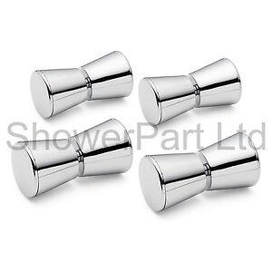 4 x douche poignees de porte boutons chrome en alliage for Bouton porte douche
