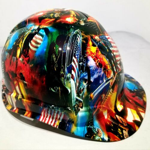 Hard Hat Cap style Custom hydro dipped DONALD TRUMP MAGA FACTORY APPROVED NEW 1