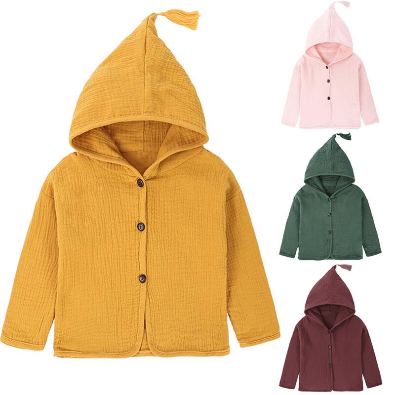 Baby Kleinkind Mädchen Kapuzen Mantel Jacke Winter Cardigan Freizeit Outwear
