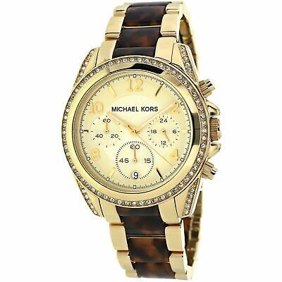Michael Kors MK6094 Blair Two Tone Tortoise Glitz Womens Watch