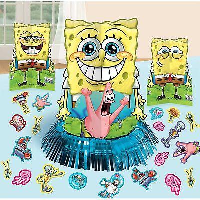 Spongebob Centerpieces (NEW Sponge-Bob Table Decorations Centerpieces Plus Confetti Birthday)