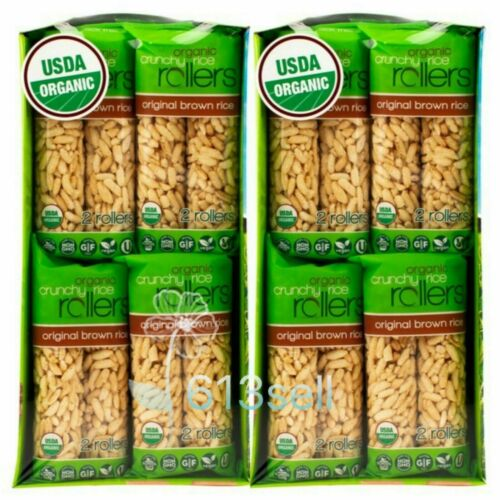 2 Packs Bamboo Lane Organic Crunchy Rice Rolls 16 CT 14 OZ Each Total 64 Rollers