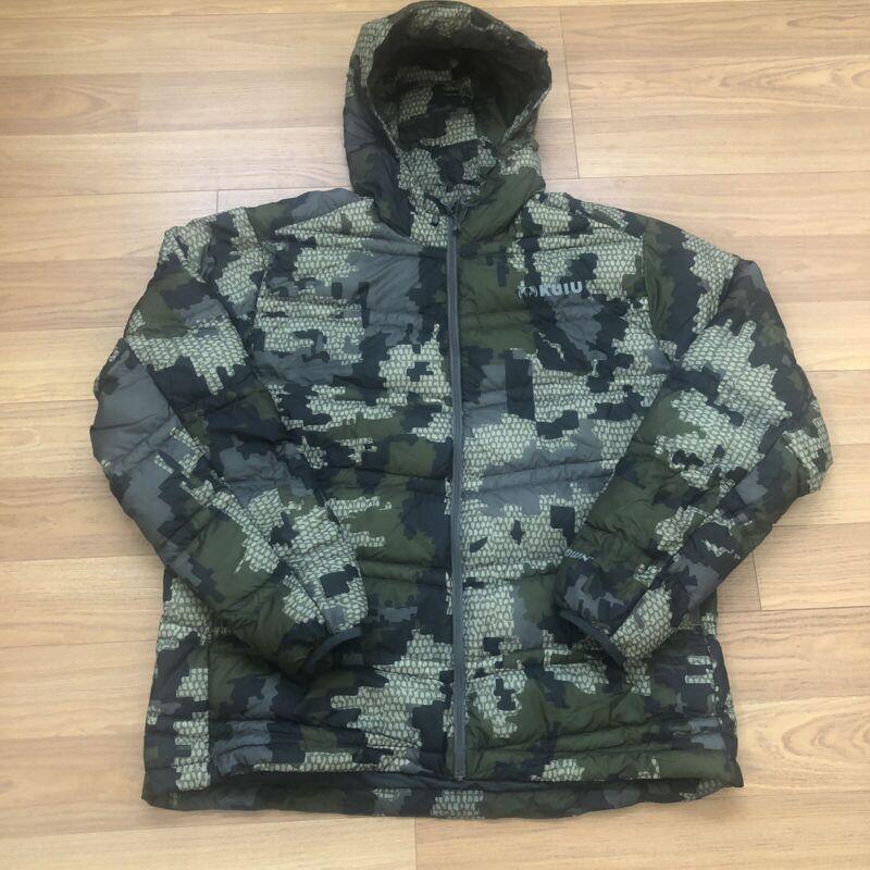 Kuiu Super Down Ultra Hooded Jacket Verde Hunting Outdoors Men's 3XL
