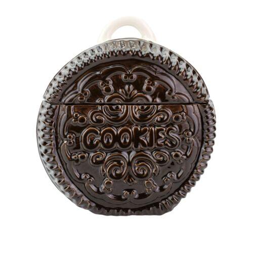 Vintage Oreo Ceramic Cookie Jar Brown White