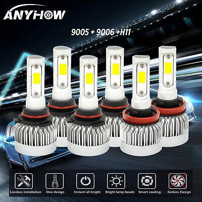 9005+9006+H11 LED Headlight Hi/Low Beam Bulb 6500K Fog Light Sets 5000W 880000LM