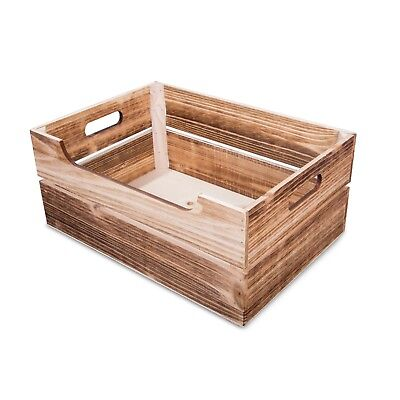 Stylish Wooden Apple Crates Retail Display Shelf Box Christmas Gift Hamper