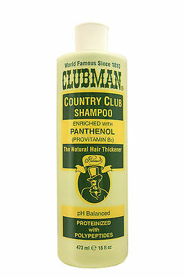 CLUBMAN COUNTRY CLUB SHAMPOO WITH PANTHENOL 16 FL. OZ. (Clubman Shampoo)