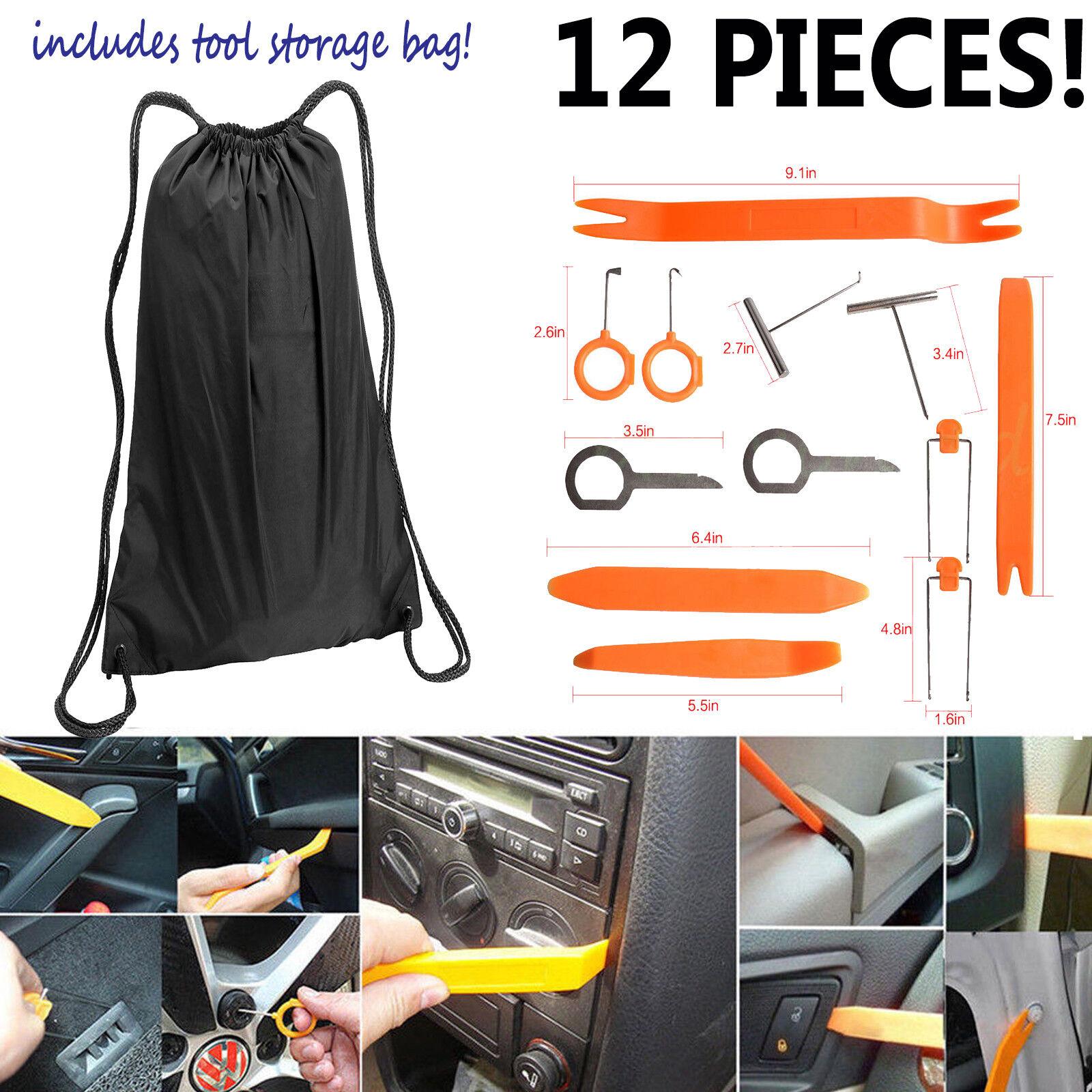 Universal Pry Removal Open Tools Kit Car Dash Door Trim Panel Clip Radio/Lights Automotive Tools & Supplies