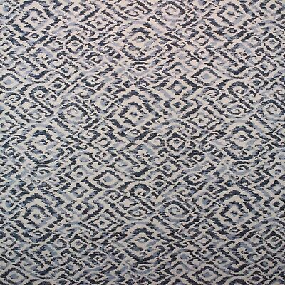 Ballard Designs Rienzo Indigo Sunbrella Ikat Outdoor Furniture Fabric Bty 54 W